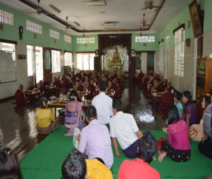 Contribution to  Thar Tana Alyin Yaung  Monastery